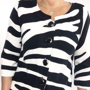 Chico's Sweaters - Chico's Zebra Print Elegant Cardigan